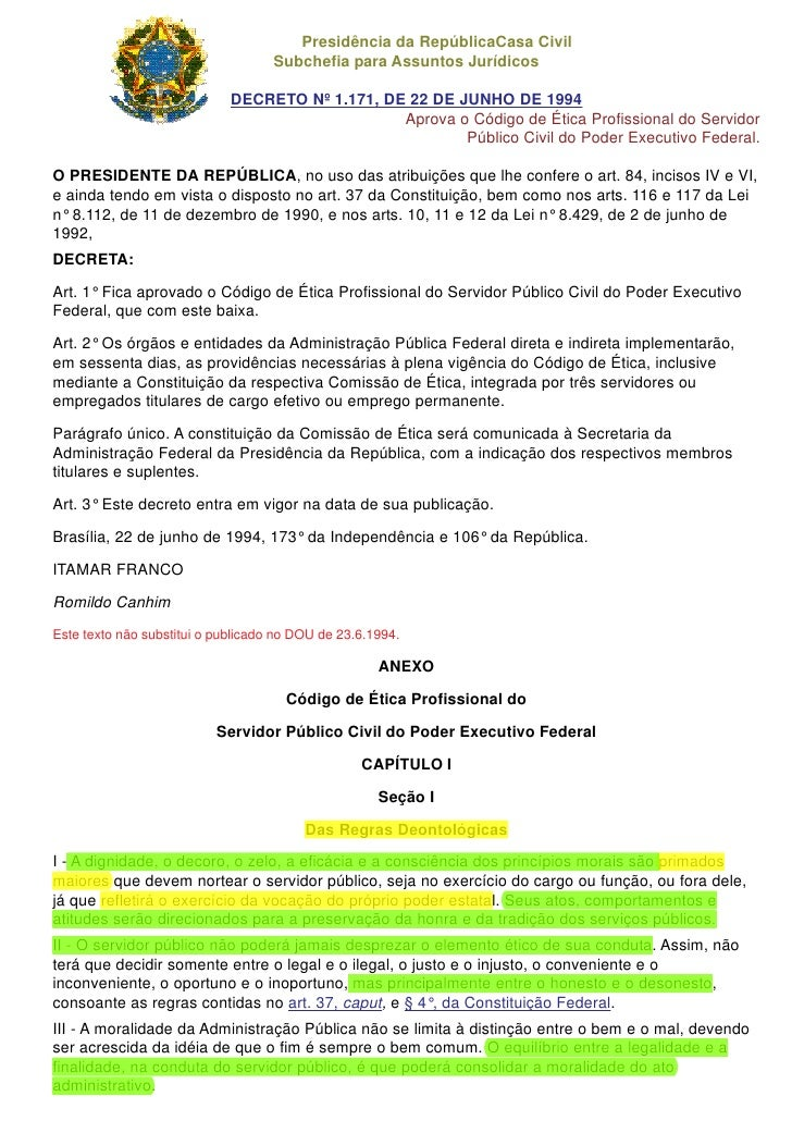 Presidência da RepúblicaCasa Civil                                     Subchefia para Assuntos Jurídicos                  ...