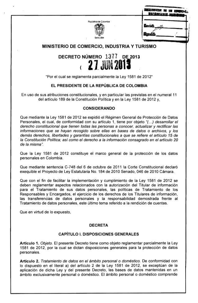 """·Ie  ¡~""""1.1I2N~  . ~4z P?~y~-------. . . ._ _ _ _ _ _. . . , 1  MINISTERIO DE COMERCIO, INDUSTRIA Y TURISMO DECRETO NÚMERO..."""