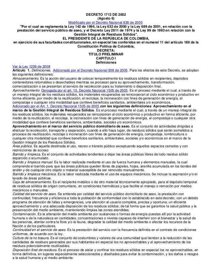 DECRETO 1713 DE 2002                                                            (Agosto 6)                                ...
