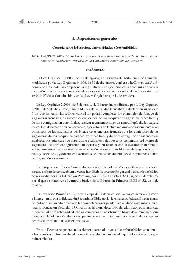 Boletín Oficial de Canarias núm. 156 https://sede.gobcan.es/cpji/boc Miércoles 13 de agosto de 201421911 I. Disposiciones ...