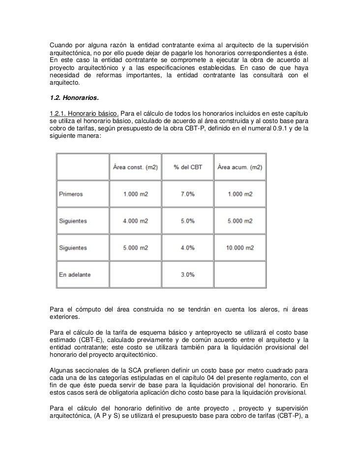 Decreto 2090 de 1989 for Honorarios arquitecto
