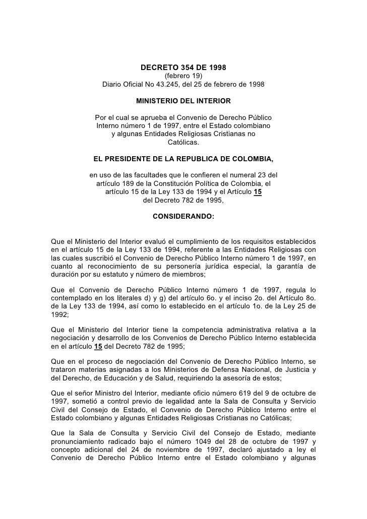 Matrimonio Catolico Con Extranjero En Colombia : Decreto de