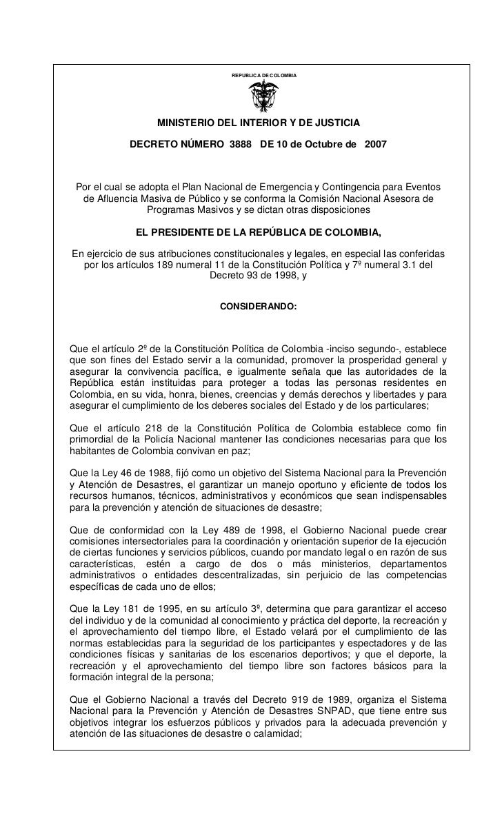 REPUBLICA DE COLOMBIA                                                I                    MINISTERIO DEL INTERIOR Y DE JUS...