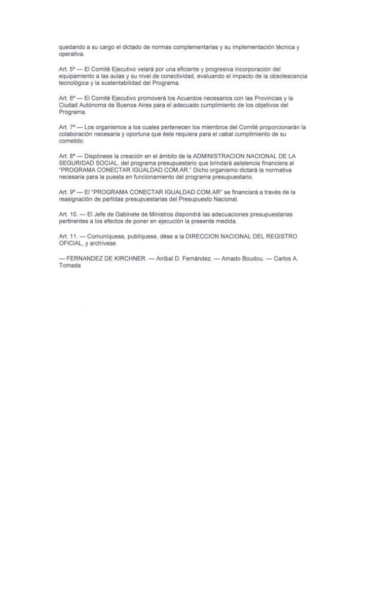 Decreto 459 10 - conectar igualdad