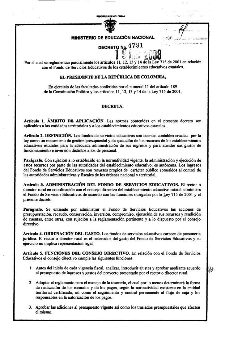 MINISTERIO DE EDUCACiÓN NACIONAL                                                                      4 ~ 91              ...