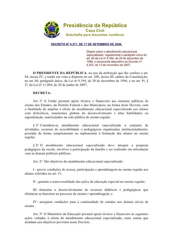 Presidência da República                                             Casa Civil                              Subchefia par...