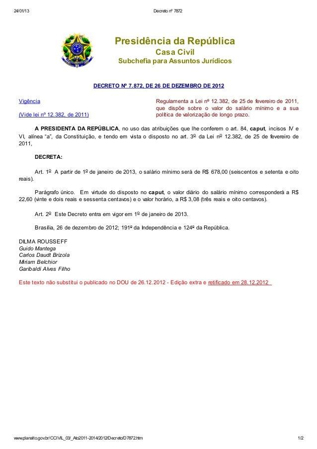 24/01/13                                                             Decreto nº 7872                                      ...