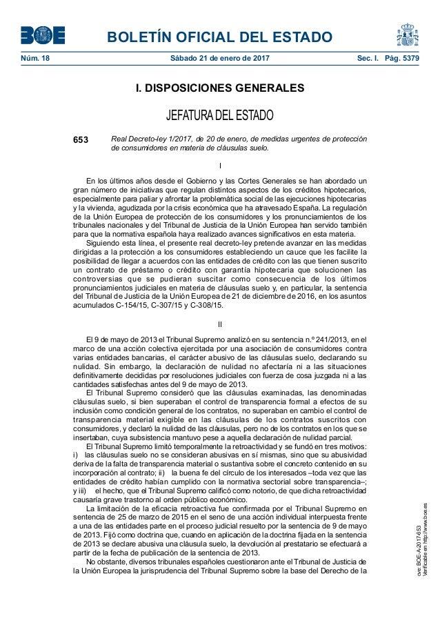 Decreto clausula suelo for Clausula suelo mayo 2017