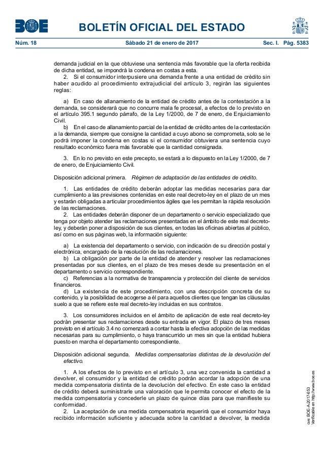 Decreto clausula suelo for Reclamacion cantidad clausula suelo