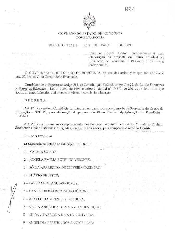 Decreto nº 14112 - 02.03.2009