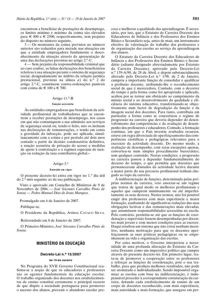 Diário da República, 1.a série — N.o 14 — 19 de Janeiro de 2007                                                      501  ...