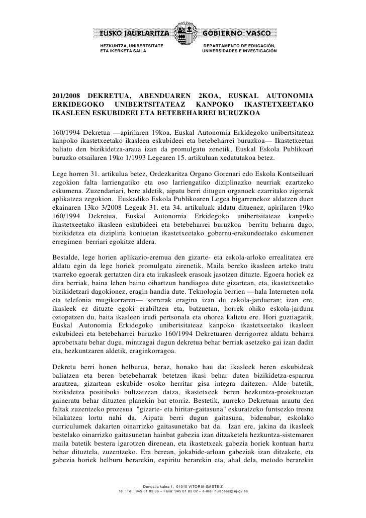 HEZKUNTZA, UNIBERTSITATE                             DEPARTAMENTO DE EDUCACIÓN,                 ETA IKERKETA SAILA        ...