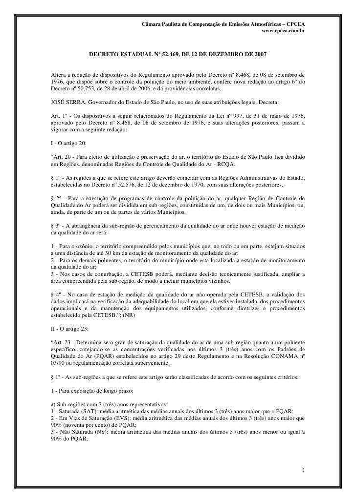 Câmara Paulista de Compensação de Emissões Atmosféricas – CPCEA                                                           ...