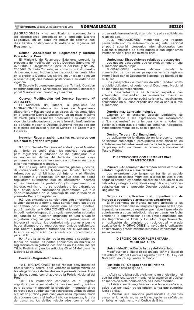 Decreto legislativo n 1236 decreto legislativo de for Decreto ministerio del interior