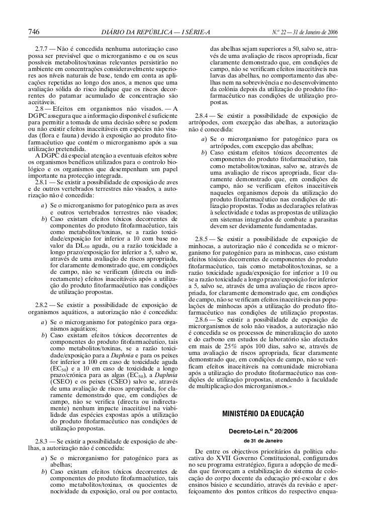 746                          DIÁRIO DA REPÚBLICA — I SÉRIE-A                                 N.o 22 — 31 de Janeiro de 200...
