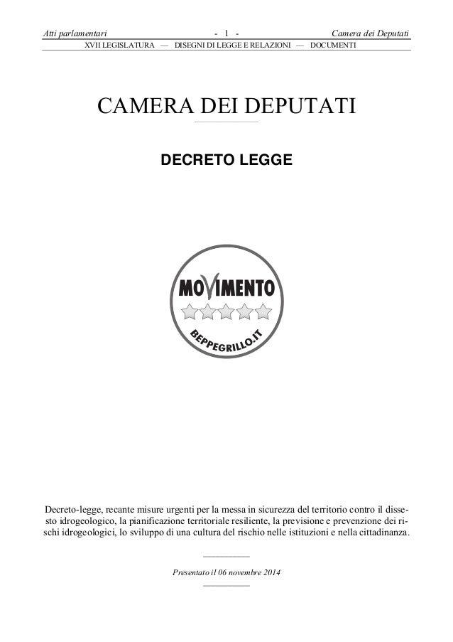 Atti parlamentari - 1 - Camera dei Deputati  XVII LEGISLATURA — DISEGNI DI LEGGE E RELAZIONI — DOCUMENTI  CAMERA DEI DEPUT...