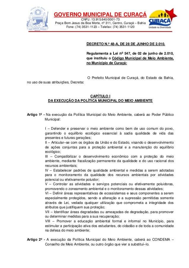 GOVERNO MUNICIPAL DE CURAÇÁ CNPJ: 13.915.640/0001-73 Praça Bom Jesus da Boa Morte, nº 311, Centro, Curaçá – Bahia Fone: (7...
