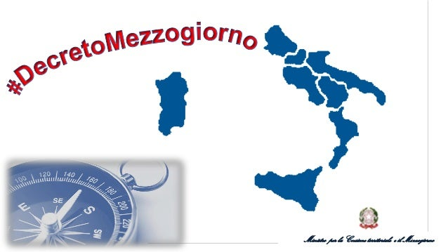 Ministro per la Coesione territoriale e il Mezzogiorno1