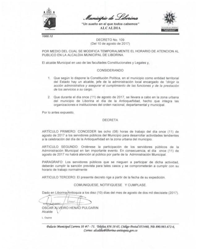 Decreto nº 109 (del 10 de agosto de 2017) 1936