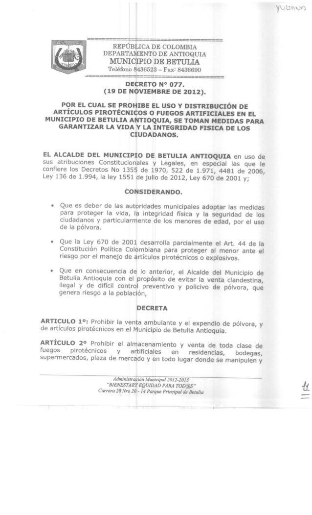 Decreto 077