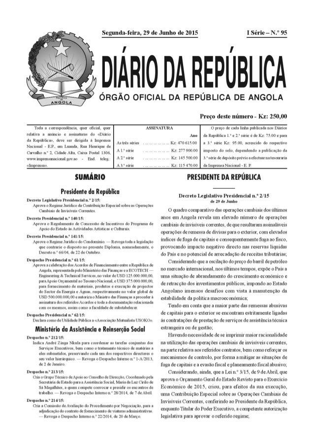 Regime Jurídico da Contribuição Especial sobre as Operações Cambiais de Invisíveis 2/15