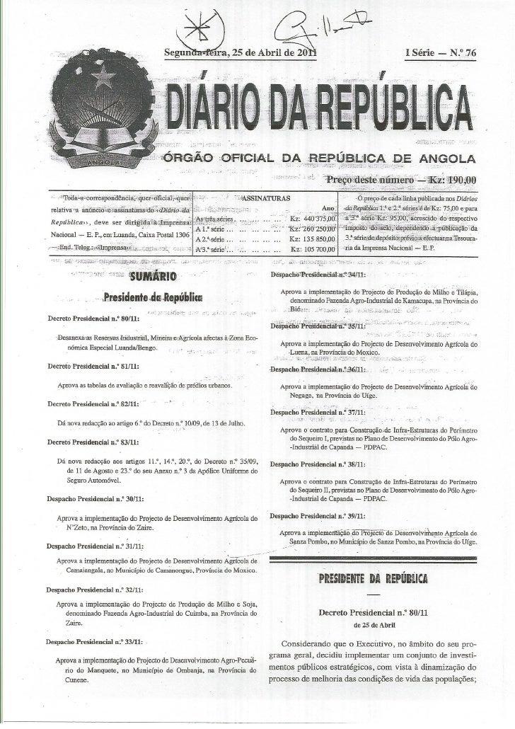 Decreto presidencial 81 11 aprova tabelas de avaliação e reavaliaçao de predios urbanos