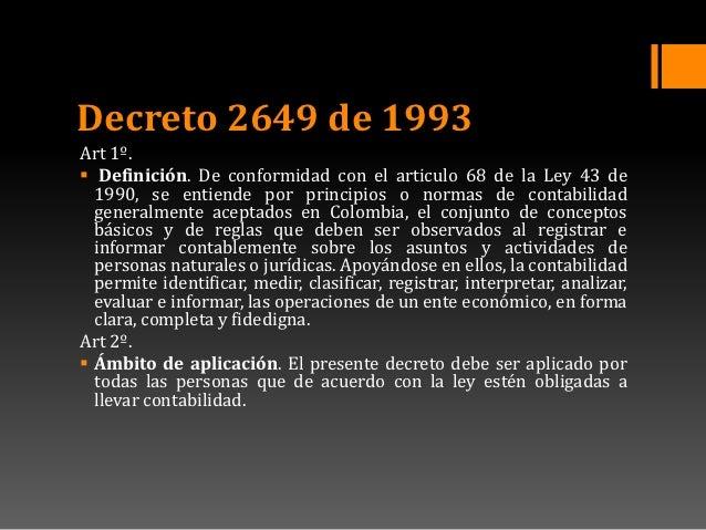 decreto 2649 puc