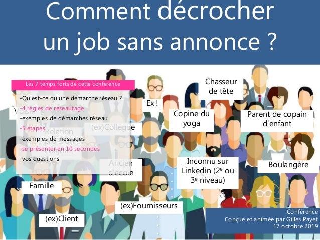 Comment décrocher un job sans annonce ? Boulangère (ex)Client (ex)Fournisseurs Inconnu sur Linkedin (2e ou 3e niveau) Pare...