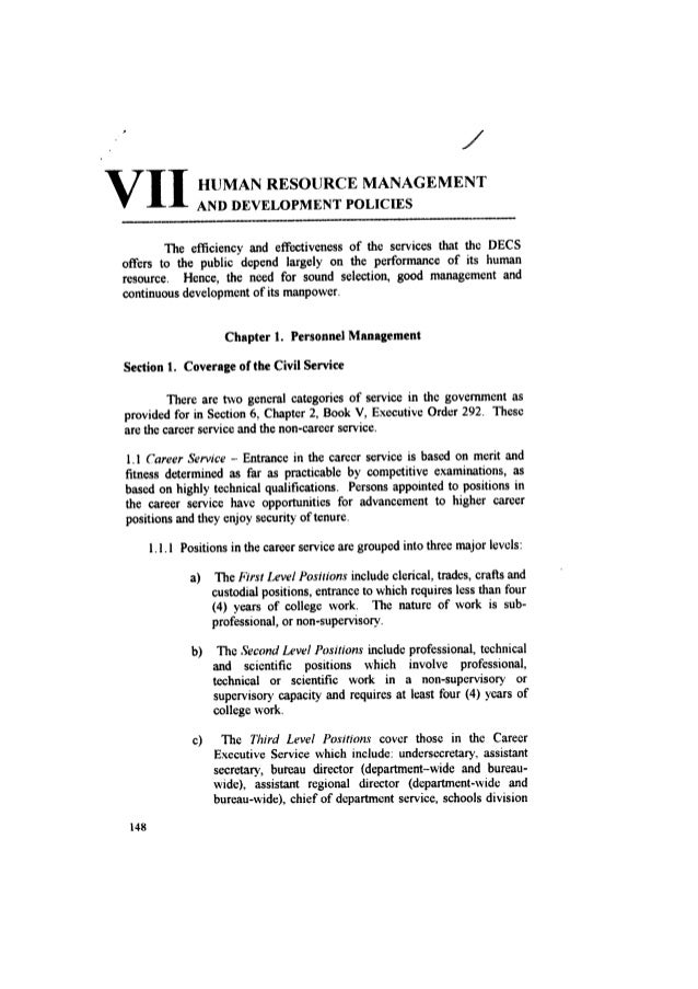 decs service manual 09 vii human resource management and developmen rh slideshare net decs service manual pdf decs service manual 2000 pdf