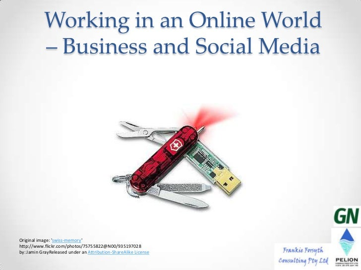 Working in an Online World           – Business and Social MediaOriginal image: swiss-memoryhttp://www.flickr.com/photos/7...