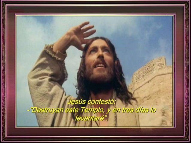 """Jesús contestó:  -""""Destruyan este Templo, y en tres días lo  levantaré""""."""