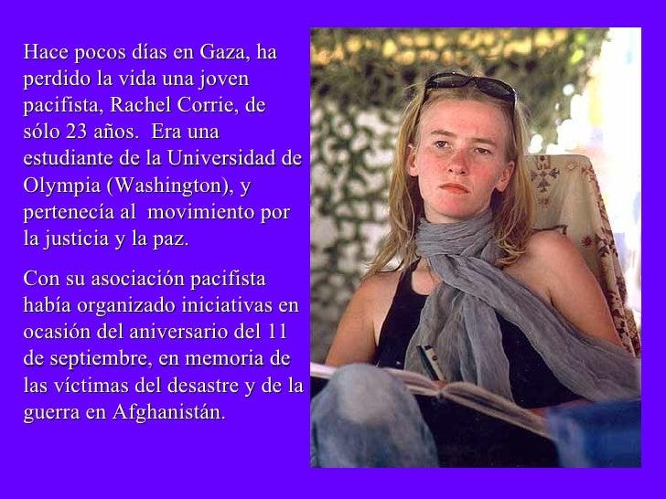 Dedicadoa Rachel Corrie Slide 2