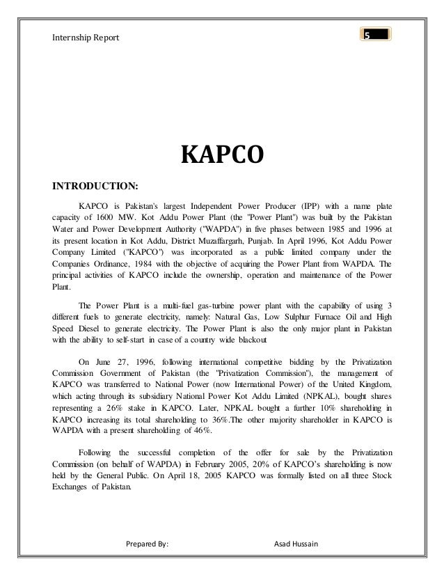 kapco report This page provides a brief financial summary of kot addu power company ltd as well as the most significant  kot addu power company ltd (kapco  report this.
