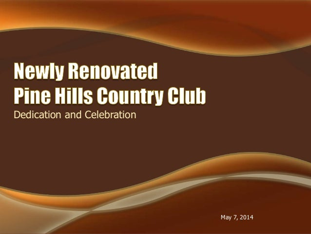 Dedication and Celebration May 7, 2014