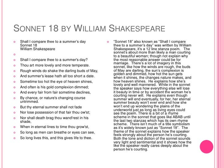 an analysis of the poem shall i compare thee to a summers day by william shakespeare Most all of william shakespeare's poems  so long will this poem live on, making you immortal analysis  literary analysis shall i compare thee to summers day.