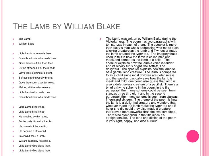 a look at children in blakes poetry William blake was born in carnaby market, london, on november 28, 1757 by the age of four, he was having visions: god put his head through the window to look at him, angels walked among the .