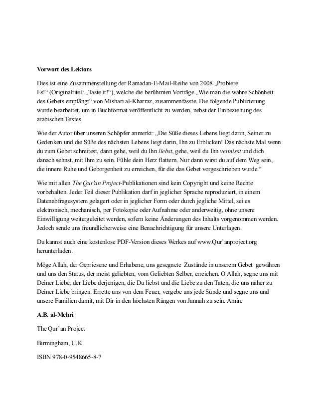 """! ! Vorwort des Lektors Dies ist eine Zusammenstellung der Ramadan-E-Mail-Reihe von 2008 """"Probiere Es!"""" (Originaltitel: """"T..."""