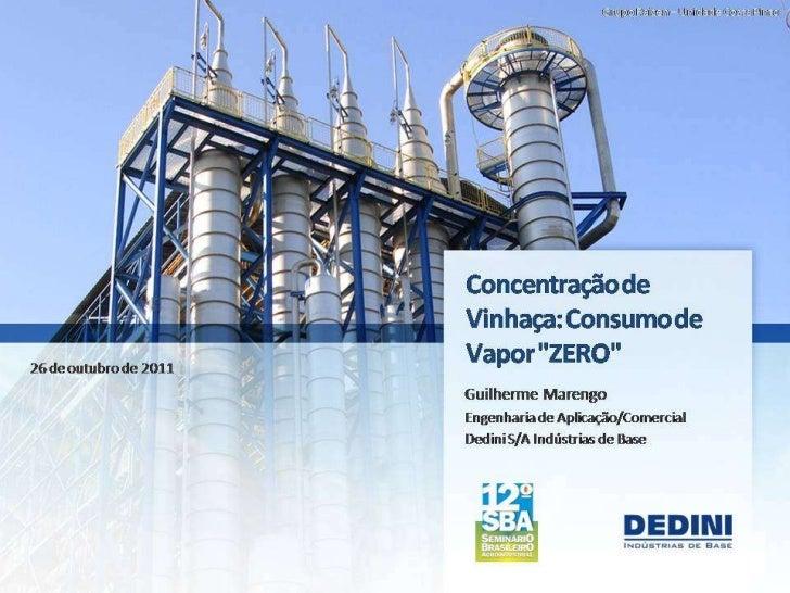 Dedini fermentec sba 2011 - concentração de vinhaça