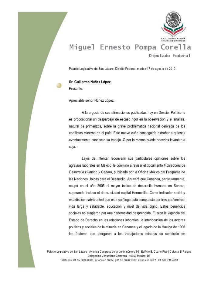 Miguel Ernesto Pompa Corella                                                                                     Diputado ...