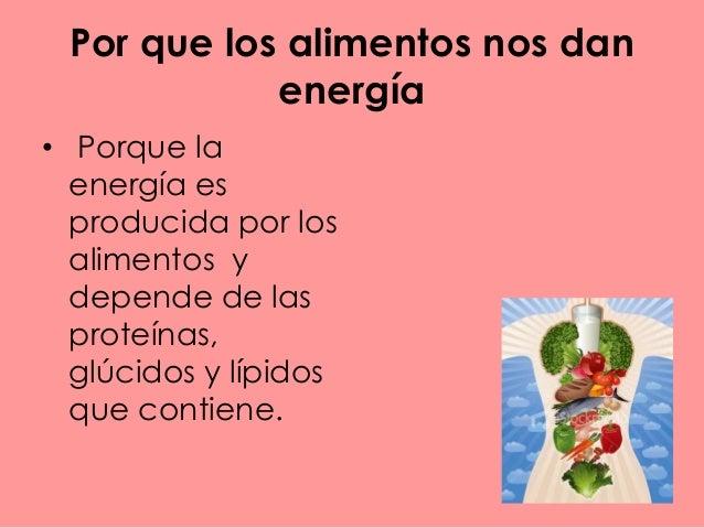 De donde obtiene energia el cuerpo