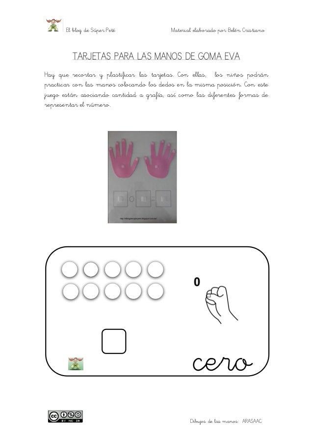 El blog de Súper Peté Material elaborado por Belén Cristiano  Dibujos de las manos: ARASAAC  TARJETAS PARA LAS MANOS DE GO...