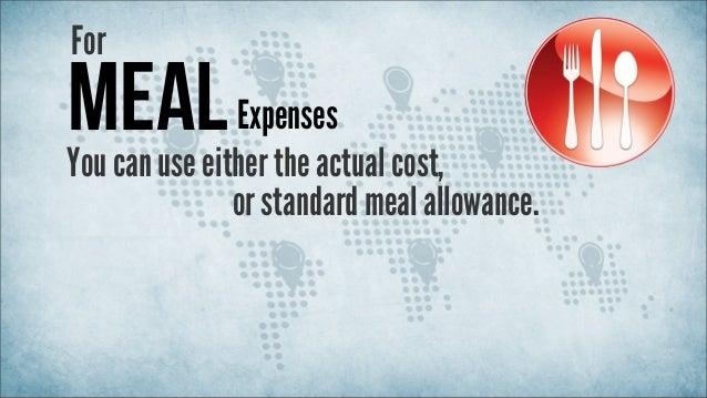 Standard Meal Allowance For Business Travel