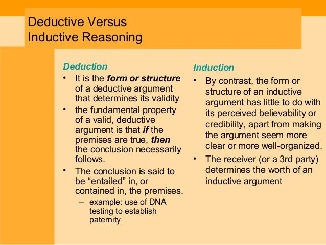 deductive vs inductive Using varied instructional techniques: inductive and deductive teaching approaches in order to meet the needs of.