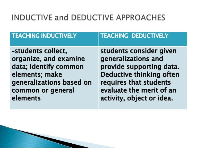 deductive and inductive methods of research essay Compare and contrast the inductive and deductive research need essay sample on deductive versus inductive reasoning it is not always the most valid method.