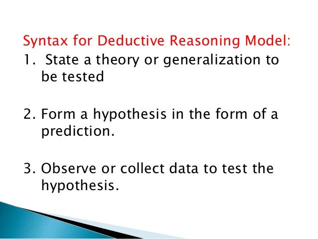 a basic form of deductive Inductive and deductive reasoning reporting category reasoning, lines 1 distribute copies of the two activity sheets review the basic vocabulary included on the sheets then, have students work in pairs or small groups to complete the activity sheets 2 distribute copies of the algebraic qualities of equality handout, and have.