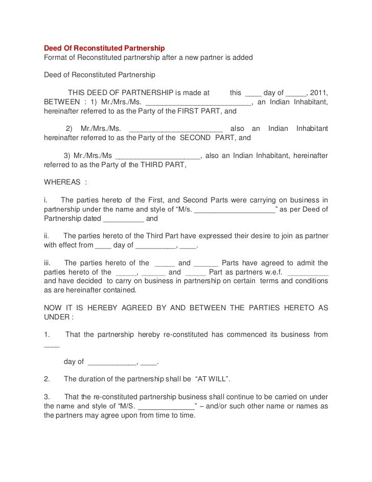 Deed of reconstituted partnership 1 728gcb1347078017 deed of reconstituted partnershipformat of reconstituted partnership after a new partner is addeddeed of reconstituted par thecheapjerseys Image collections