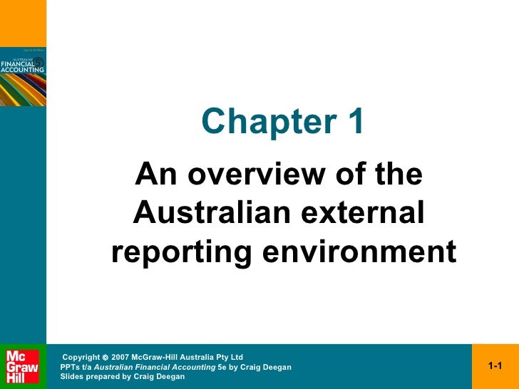Chapter 1 An overview of the  Australian external  reporting environment