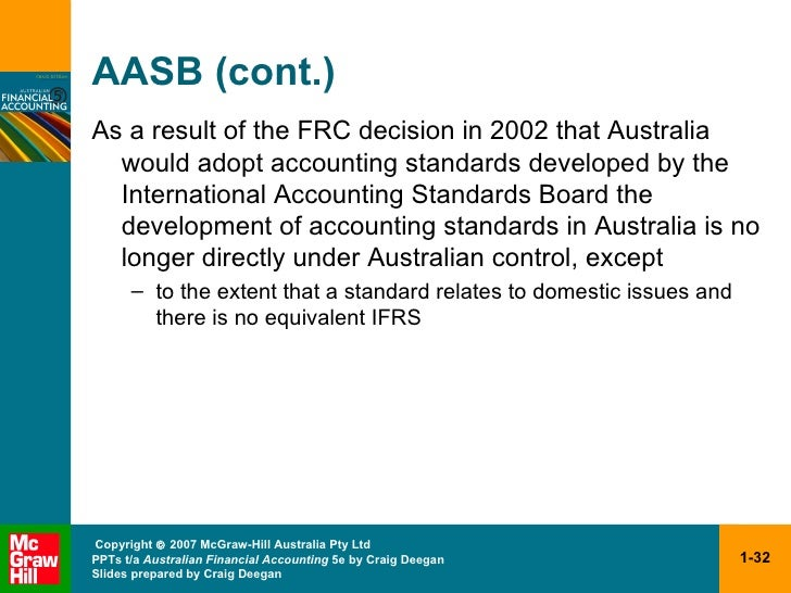 aasb and adoption of ifrs The effect of ifrs adoption on the financial reports of local government entities ifrs adoption on the financial reports by aasb in the adoption of ifrs.