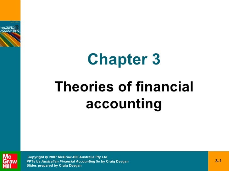 financial accounting theory the reporting