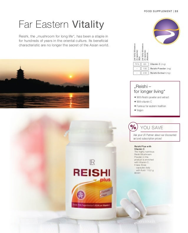 LR health and beauty system: LR Reishi plus Capsules